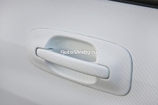3D карбон Белый